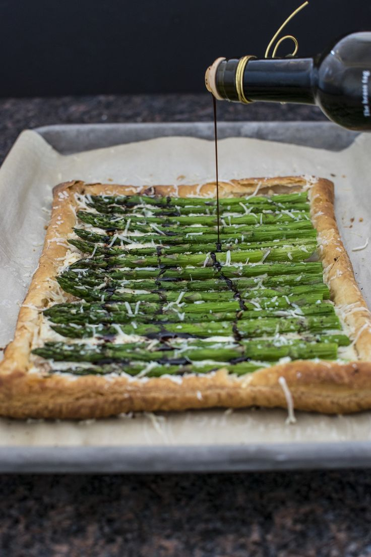 This Asparagus Tart is a simple and adaptable spring recipe that can substitute a variety of different cheeses ricotta, gruyere, chèvre, or even vegan. It can even be great for your Easter Brunch!