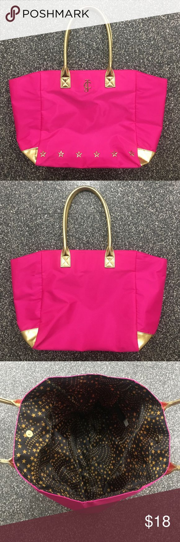 NWOT Juicy Couture Pink And Gold Tote Bag Never used. Juicy Couture Bags Totes