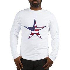 US Flag Star Long Sleeve T-Shirt