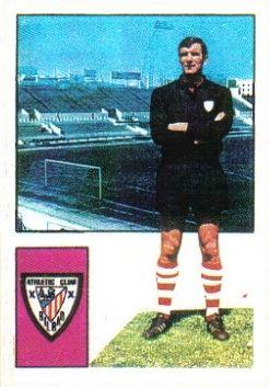 Iríbar. 1974-75. Athletic Club de Bilbao. Cromos Fher y Konga.