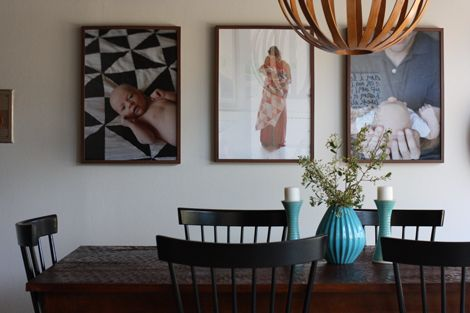enJOY it by Elise Blaha Cripe: oversized photos in our dining area. (in Ribba frames from Ikea)