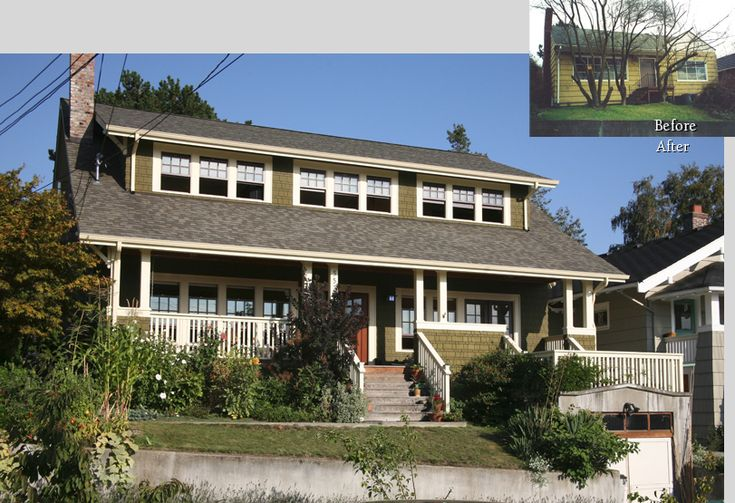 From boring to full of character... this second story addition has a welcoming porch and charming dormer windows.