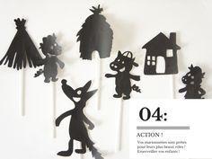 DIY : un théâtre d'ombres {les 3 petits cochons}                                                                                                                                                                                 Plus