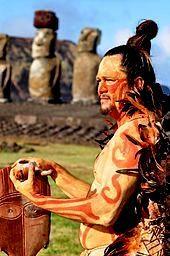 Hombre Rapa-Nui, Chile.