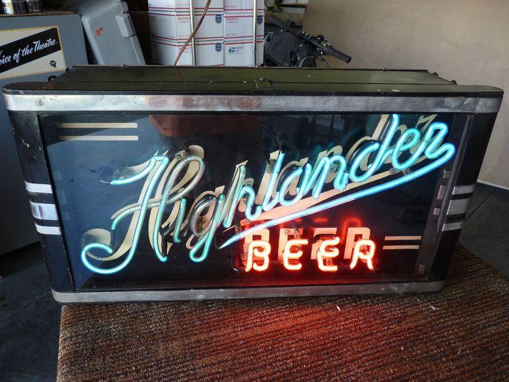Man Cave Missoula : Rare vintage highlander beer neon sign missoula montana