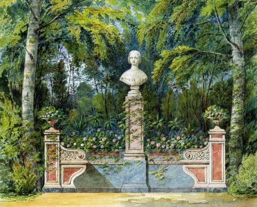 Fsarskoye Selo, monument to Grand Duchess Alexandra  Nikolayevna, daughter of Tsar Nicholas I
