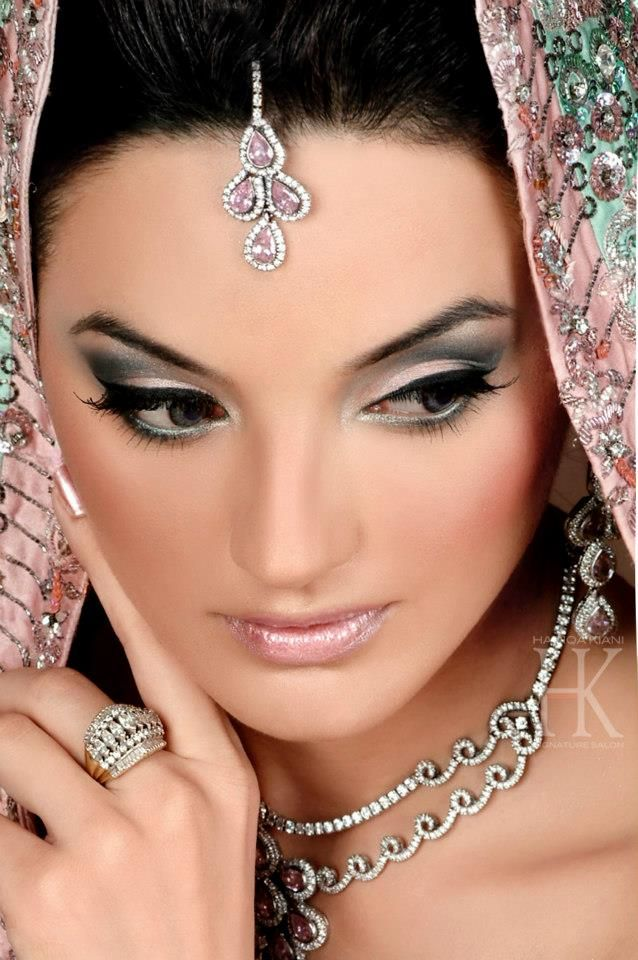 black wedding makeup looks | Bridal Makup 2013 | X Pakistani Fashion Clothes Dresses Collection