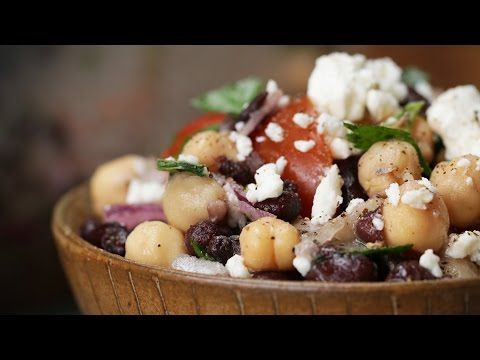 Wake Up Your Body With A Healthy Chickpea And Black Bean Salad