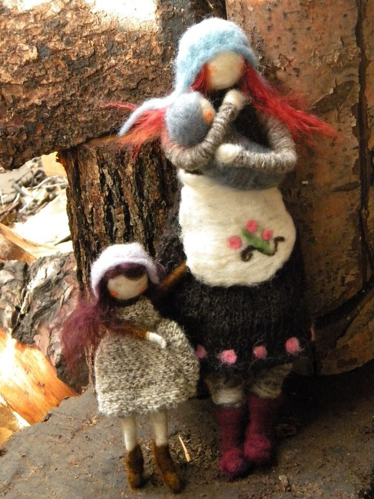 """herthen: """"Needle Felted Doll/Ornaments (by Felting Dreams) """""""
