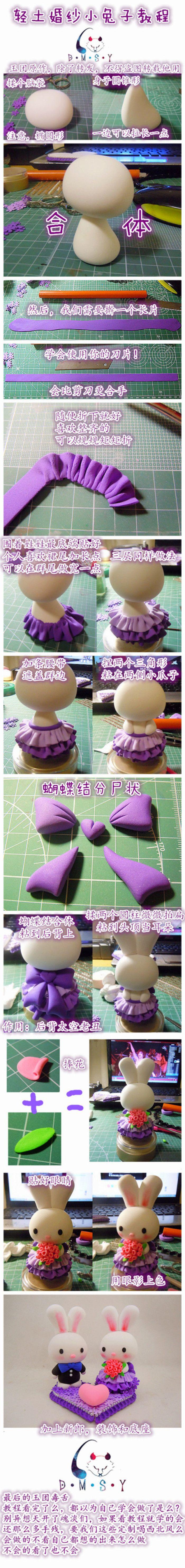Cute little bunny DIY clay