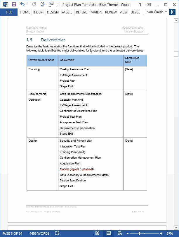 Project Plan Template Microsoft Word Unique Project Plan Template Download Ms Word Excel For Project Proposal Template Proposal Templates Schedule Template