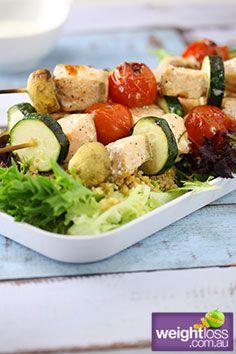 Healthy Salmon Recipes: Salmon Kebabs. #HealthyRecipes #DietRecipes #WeightlossRecipes weightloss.com.au
