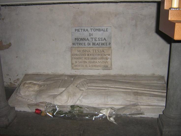 Monna Tessa, nutrice di Beatrice Portinari - Chiesa di Santa Margherita dei Cerchi, Firenze