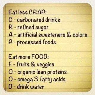 Eat less CRAP & more FOOD