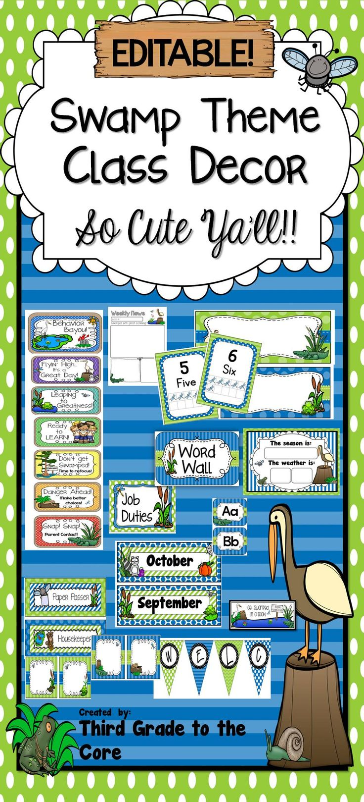 "How about a little ""CAJUN"" flair in your classroom? Make your class stand out!! The best part is that it is editable!"