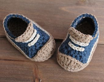 Crochet Pattern for Boys Booties Crete Sneaker by Inventorium