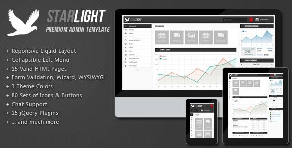 Starlight Reponsive Admin Template