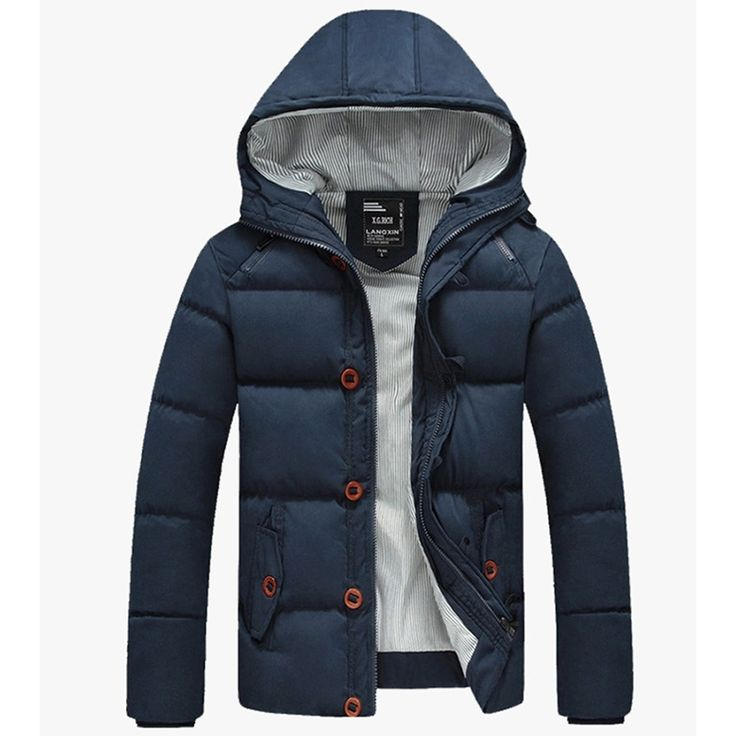 39.99$  Watch now - http://ai4fb.worlditems.win/all/product.php?id=32789315674 - Men's Down Jackets  Warm Down Parkas Casual Outerwear Men Solid Coat