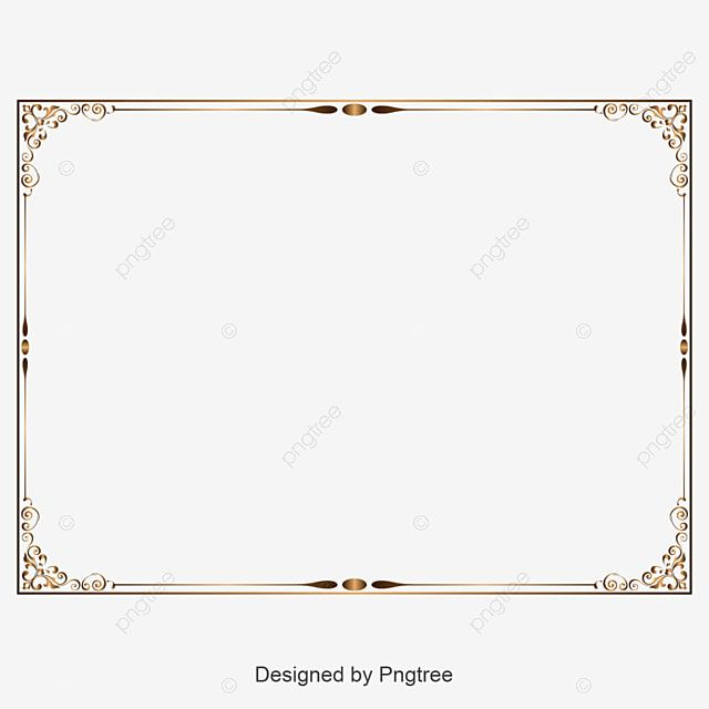 Retro Decorative Border Rectangle Clipart Border Frame Vector Set Png And Vector With Transparent Background For Free Download Decorative Borders Graphic Design Background Templates Border