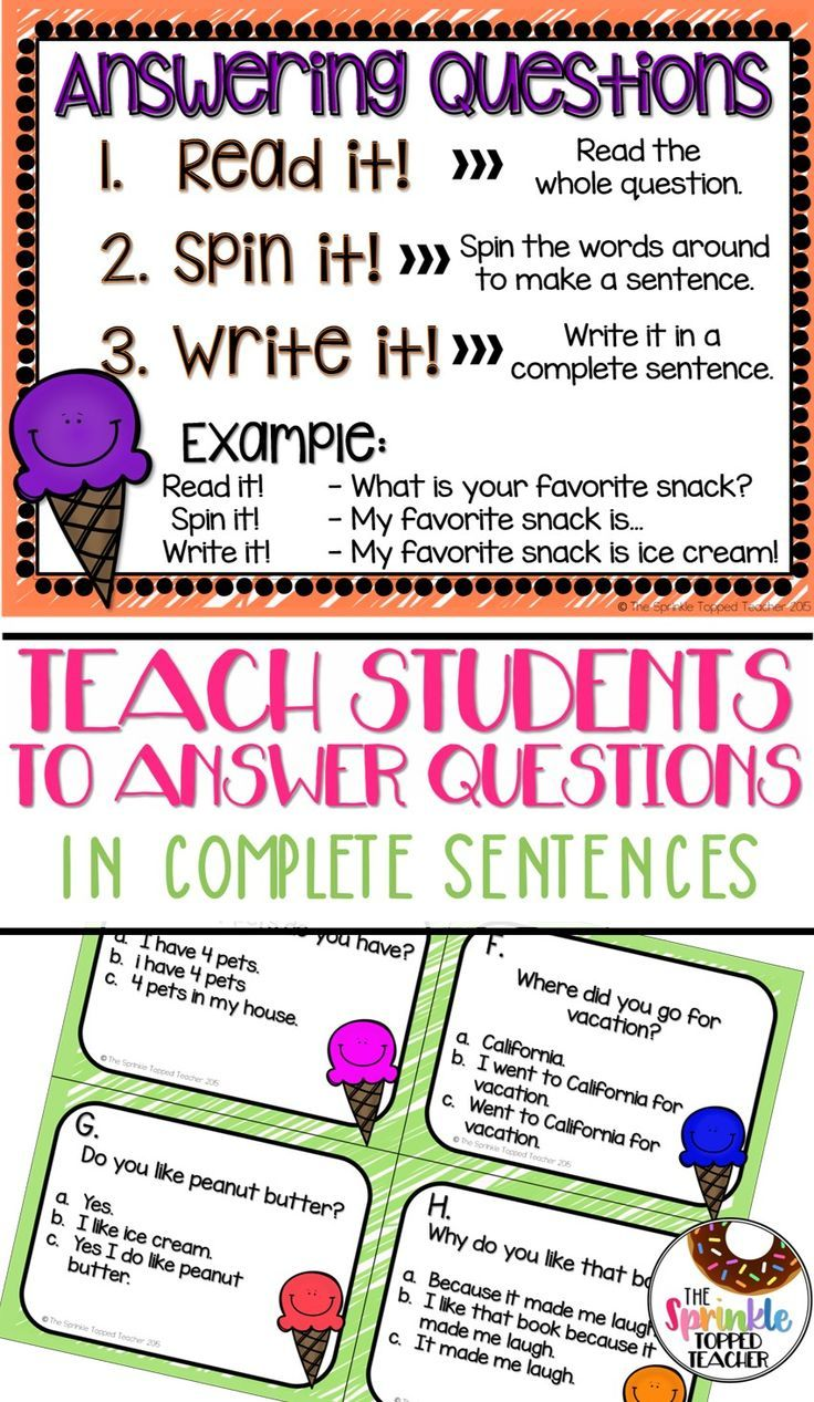 medium resolution of This is a week long unit on how to read and answer questions with the  question in the a…   Elementary reading activities