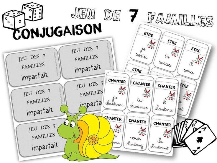 JEU des 7 familles pour réviser la conjugaison - Caracolus