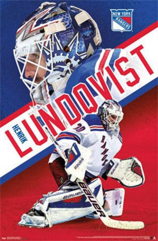 Henrik Lundqvist New York Rangers NHL Print at AllPosters.com