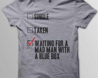 DOCTOR WHO Mad Man With A Blue Box Matt Smith David Tennant Women Unisex & Men's T-Shirt