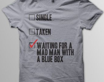 DOCTOR WHO Mad Man With A Blue Box Matt Smith David Tennant Women Unisex & Men's T-Shirt