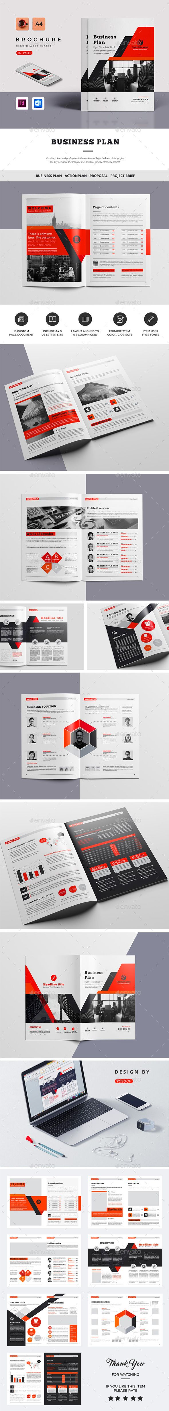 Business Plan — InDesign INDD #trendy • Download ➝ https://graphicriver.net/item/business-plan/19726717?ref=pxcr
