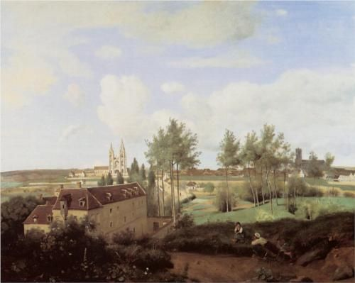 Soissons Seen from Mr. Henry s Factory - Camille Corot