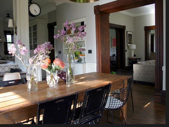 Hgtv Love The Different Chairs Rustic Farm TableRustic Dining RoomsEclectic