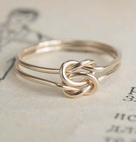 Lover's Knot Gold-Filled Wire Ring, $80 | 25 Stunning Engagement Rings That Aren't Made With Diamonds