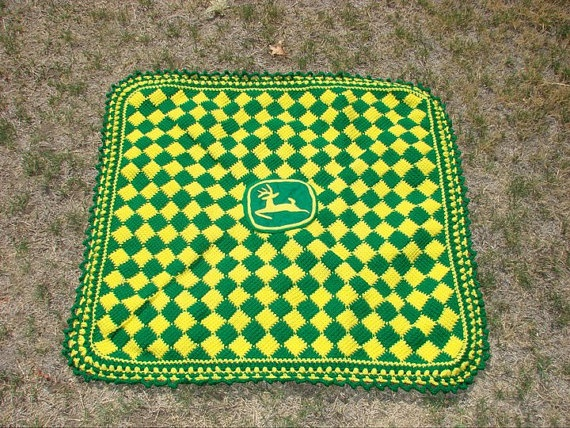 Crochet Pattern For John Deere Afghan : Love it! Baby stuff Pinterest John deere, Crochet ...