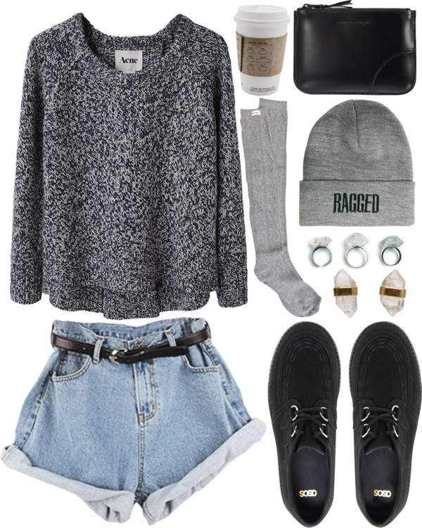 Casual but put-together with the knee-high socks… Perfect for casual events such as school when you want to put a bit more thought into it all