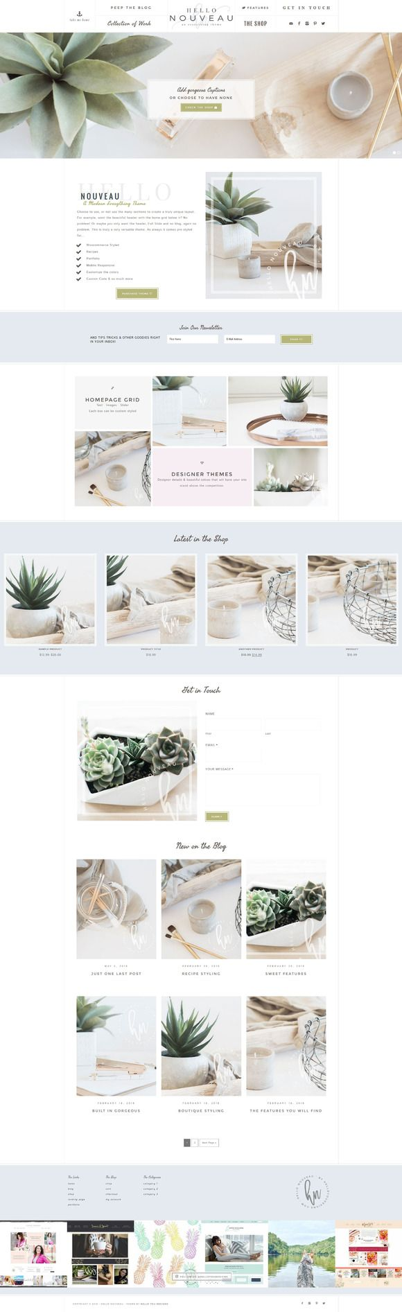 Hello Nouveau Wordpress Genesis by Hello You Designs on @creativemarket