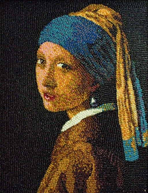 Girl With a Pearl Earring by Malcom West, from Hersham, Surrey, is the only accredited Jelly Belly artist in the UK. The artist says that he treat every 'bean like a gem.'