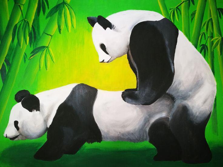 #panda #pandaparty #painting #festmény #dioszegialkotasok