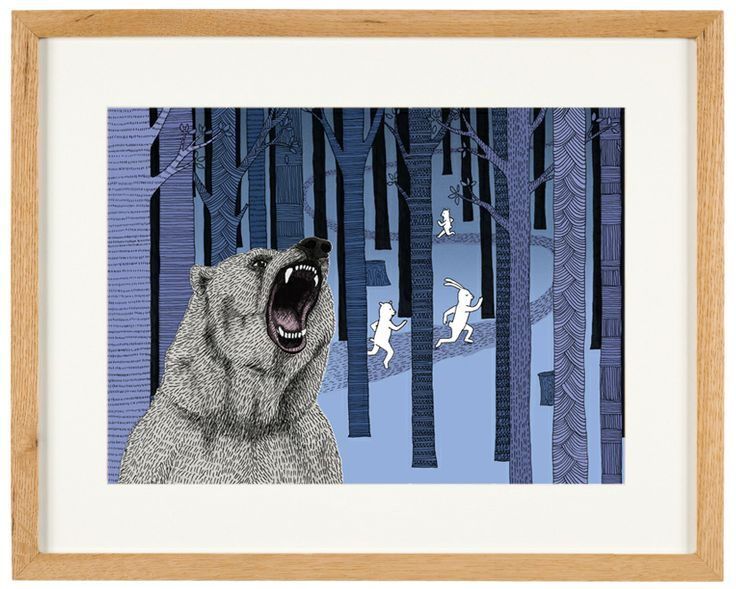'Grizzly Bear' - limited Edition of 50 - A3 giclee print (unframed) - anniedavidson.bigcartel.com
