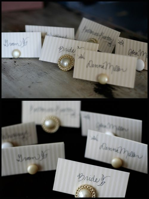 Clip on earring card holders...neat for any type of gathering that you would want a touch of class for