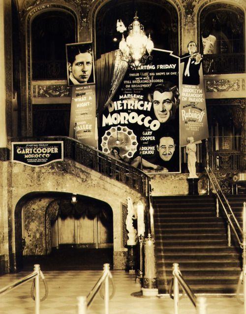 Paramount Theatre lobby, 1930