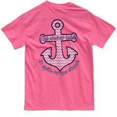 Bjaxx Anchor Holds Chevron Anchor Pink Christian Girlie Bright T Shirt   SimplyCuteTees