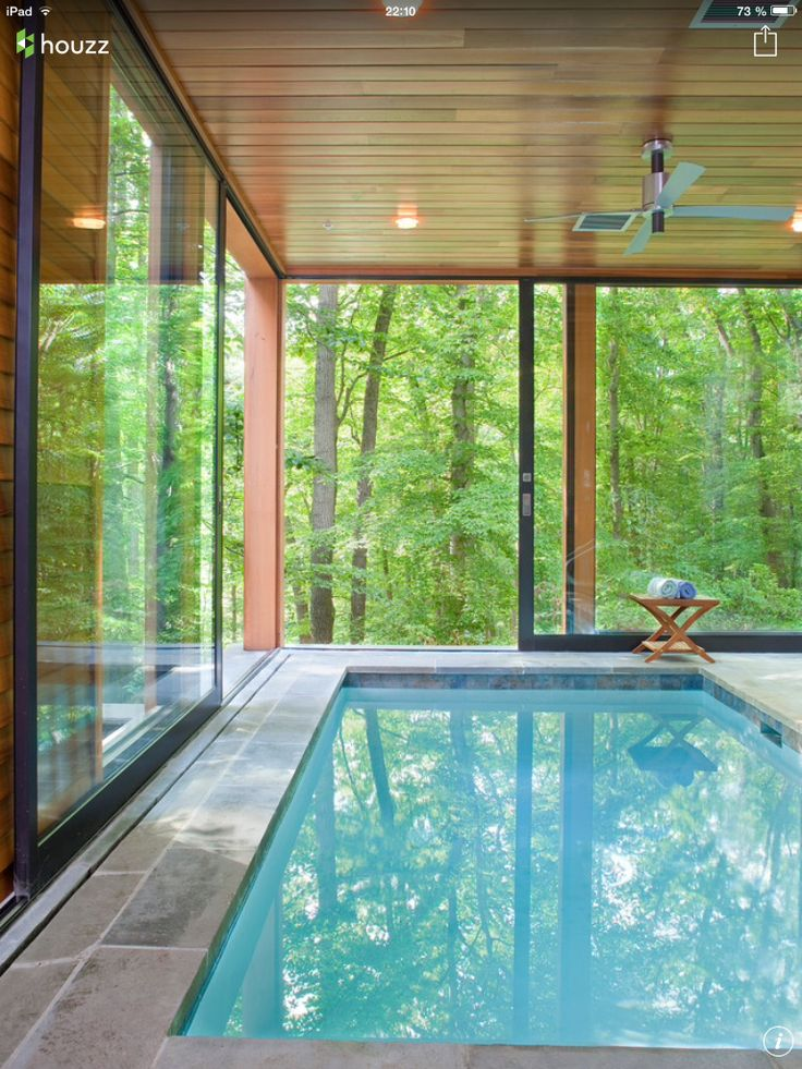 553 best piscine 1 images on Pinterest Modern houses, My house and - location chalet avec piscine interieure
