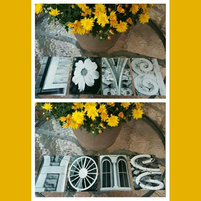 Love & Home letter art