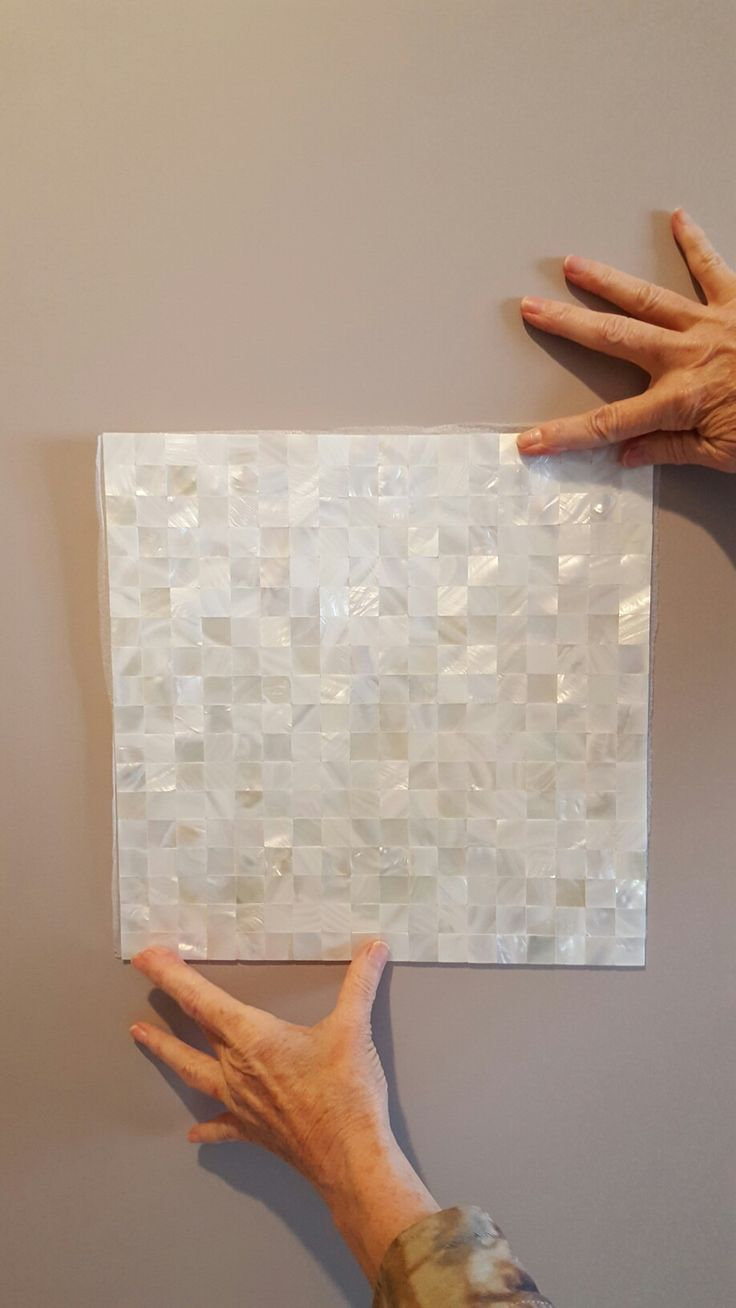 Behr Chicago Fog Paint And Mother Of Pearl Seamless Tile