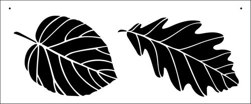 Leaves stencil from The Stencil Library BUDGET STENCILS range. Buy stencils online. Stencil code NC124.