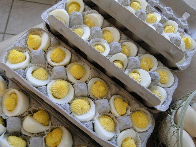 pretty deviled eggs at a farm party # farm # partyfood
