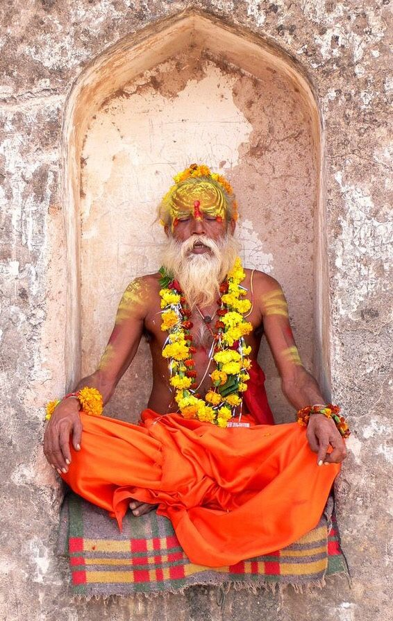 Sadhu In Meditation Rajasthan India