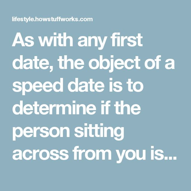 What is speed dating like