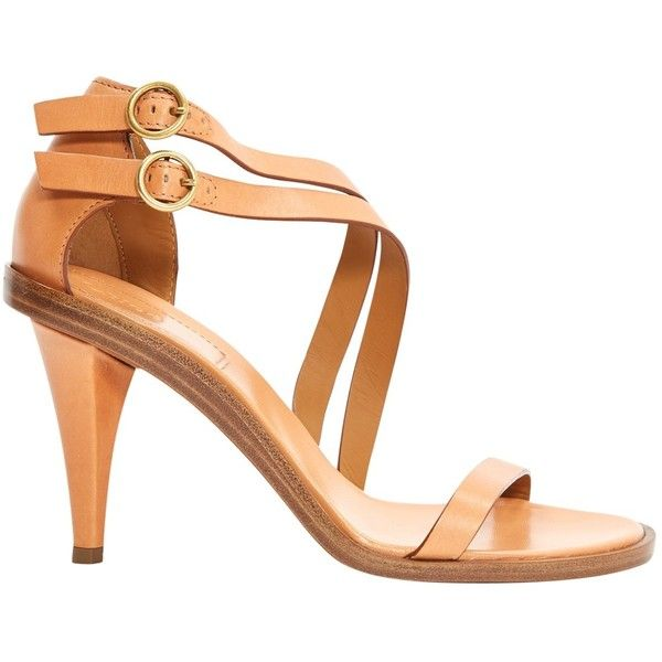 Pre-owned Chloé Leather Heels ($524) ❤ liked on Polyvore featuring shoes, pumps, camel, women shoes heels, chloe shoes, camel shoes, camel pumps, pre owned shoes and chloe pumps