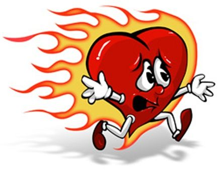 Image result for cartoon images of heartburn